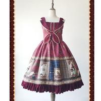 Тема костюм волшебный словарь ~ сладкий напечатанный Лолита ДжСК платье от Infanta