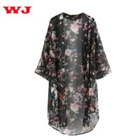 Wholesale- WEIXINBUY 2017 Summer Sunproof Cardigan Fashion Women Chiffon Bikini Cover Up Kimono Cardigan Coat Bathing Wear