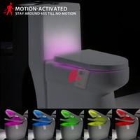 Smart PIR Motion Sensor LED Сиденье для унитаза Night Light Лампа 16 Цветов Водонепроницаемый Подсветка Для Унитаза Ванная Комната Туалет Туалет Свет