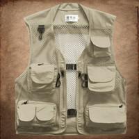 Hommes Casual Tactical Mesh Poches Multi Poches Camperas Gilet Mens Mode Gilet Homme Work Vest Gilet Armée Veste sans manches pour l'homme