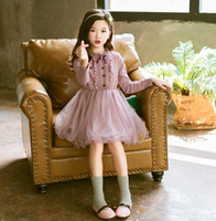 Girl Dress Autumn Spring Girls Princess Lace Dresses Fashion...
