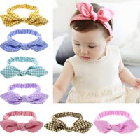 New Kids Baby Headbands Bohemian Rabbit Ears Hair Accessorie...