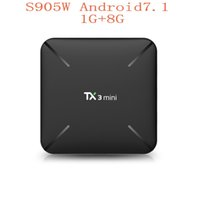 Nouveau TX3 mini Android TV Box Amlogic S905W Quad Core Android 7.1 RAM 1GB ROM 8Go WiFi 2.4G Ultra HD TV Box