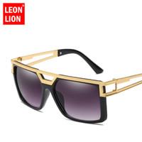 LeonLion 2018 Vintage Sunglasses Men Punk Pilot Sun Glasses Male Classic  Driving Goggles Shopping HD Oculos De Sol Feminino 3c12643381