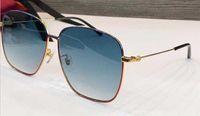 جديد مصمم الأزياء النظارات الشمسية 0394 معدن مربع إطار بسيط شعبية نمط الأشعة فوق البنفسجية 400 حماية في الهواء الطلق للرجال والنساء