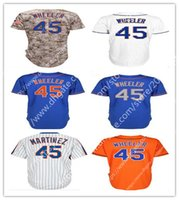 High quality Men' s New York 45 Zack Wheeler Baseball Je...