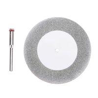 60mm Disco De Corte De Diamante Mandril Dremel Acessórios Mini Lâmina de Serra Circular Serra Elétrica para Broca de Aço Ferramenta de Corte Rotativo