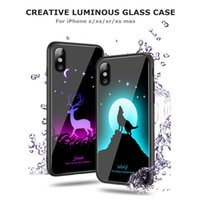 Luminous Phone Case For Iphone X XS XR XS MAX Plus Full Cove...
