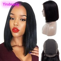 5abcf6779 Wholesale human hair bobs wig online - Malaysian Human Hair A Unprocessed Lace  Front Wigs Natural