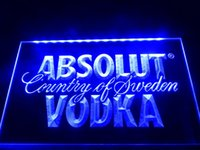 LE025b- Absolut Vodka País da Suécia Beer Neon Bar Light Sign