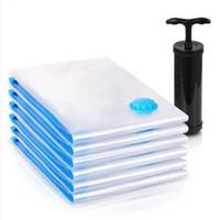 Горячие продажи премиум Джамбо Вакуумные мешки для хранения с двойной Zip уплотнение пространства Saver сумки для 80% больше хранения 6 шт одежды шкаф для хранения