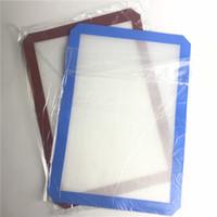 XXL силиконовый коврик с кальянкой красный синий 42см x 29см без палочки восковая нефть масла DAB обеденные столовые коврики для выпечки для стеклянных водопадных труб