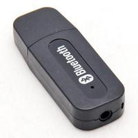 مصغرة USB قوة استقبال لاسلكي بلوتوث ستيريو الموسيقى استقبال دونغل 3.5MM مكبر الصوت 5V جاك عن الهاتف المحمول أسود أبيض