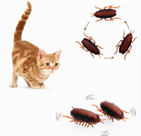 2pcs Electronic Cockroach Cat Toy Cute Cat Interactive Runni...