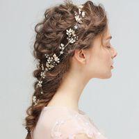 Modelos de explosión Estilo europeo nueva novia perla hecha a mano para el cabello / vestido de dama de honor accesorios para el cabello / más estilo en la selección de la tienda