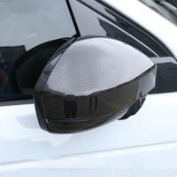 Style de fibre de carbone Rearview Mirror Couverture de finition pour Land Rover Discovery Sport 15-18 Evoque Pour Jaguar F-rythme 2016 ABS Car Styling