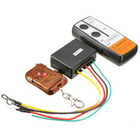 Freeshipping car 12 V 3 Pcs 75 / Pés de Guincho Auto Elétrica Sem Fio Chave Fob Keychain Remoto Controlador Handset Kit para Tuff Stuff