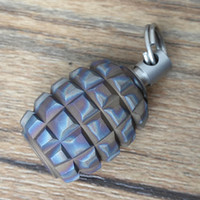 EDC titanio Ti cordino branello del pendente del cavo dei paracadute della lama di tirare cerniera QMG-F 30x18mm con stuzzicadenti o Ear-pick
