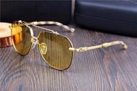 Yeni Krom Moda Erkekler Kadınlar için Polarize Güneş Gözlüğü Gece Görüş Gözlüğü Marka Boy Güneş Gözlüğü Anti-Parlama Gece HD Gözlük Kutusu ile