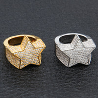 Men' s Fashion Copper Gold Color Plated Ring Exaggerate ...