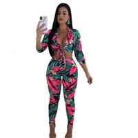 ad5665acf88 Plus Size Two Piece Set Women 2018 Club Summer Outfit Floral Tops+Bodycon  Pants Sweat Suit Sexy 2 Piece Office Tracksuit WF245