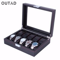 OUTAD 10 12 Girds Watch Mens Box Leather+ Carbon Fibre+ Suede ...