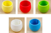 New 7*6. 5CM Cute Round Home Garden Office Decor Planter Plas...