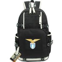 Lazio SpA daypack SS backpack 1900 كرة القدم حقيبة مدرسية لكرة القدم packsack حقيبة كمبيوتر حقيبة مدرسية الرياضة حزمة يوم في الهواء الطلق