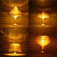 Changeable 3D Paper Night Lamp Dimmable Night Light USB Powe...