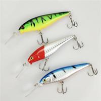 1 PZ strisce colorate modello 11cm 10.5g Hard Bait Minnow striscia esche da pesca Bass Fresh water hook diving pesce persico pesce
