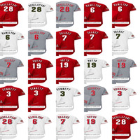 Personalisieren 34 Homer Bailey Jesse Winker Peraza Luis Castillo 21 Lorenzen Raisel Iglesias Scott Schebler Baseball Jersey Rot Weiß