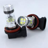 2x H8 H11 White LED canbus Bulbi 100w Riflettore Specchio Design 3030 20SMD Per fendinebbia