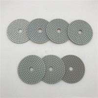 Almofada de Polimento de diamantes Molhado 4 polegada (100mm) para o Mármore Granito Pedra Telha Círculo Roda De Polimento Abrasivo Pad Lixar Disco 7 Peças / lote