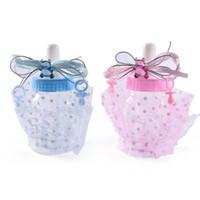 Linda Baby Shower Botella de Alimentación Caja de Dulces Regalo de bautizo Bear Blue Boy Pink Girl Decoraciones Party Supplies