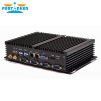 Fanless mini pc computador industrial com USB 3.0 4 * COM HDMI Intel Celeron C1037U C1007U Núcleo i5 3317U Windows 10 Linux