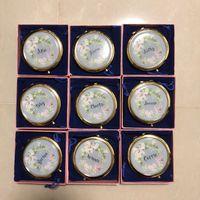 Unique Custom logo Compact Mirror Bachorette party Bridesmaid Gifts Wedding Favors 1 pcs lot free shipping wholesales