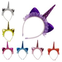 Unicorn Lace Hairband Kids Girls Headbands Party Headwear Lo...