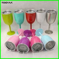 10oz Stainless Steel Wine Glass Double Wall Insulated True N...