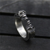 925 sterling silver ring vintage skull opening ring Thai sil...