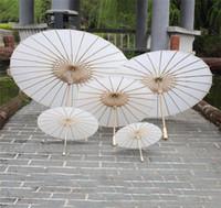 Parasols de mariage pour la mariée Parapluies en papier blanc Parapluie de mini artisanat chinois Diamètre 20,30,40,60cm Parapluies de mariage 2020