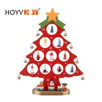 HOYVJOY DIY Wooden Christmas tree Desk Decoration Placed On ...