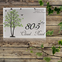 Personalized Modern House Number Outdoor Signs Plaque Street...