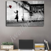 Banksy There Is Always Hope Posters HD Canvas Painting Oil F...