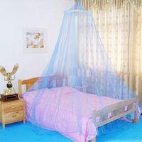 Sommer Moskitonetz Elegant Runde Spitzenbett Baldachin Netting Vorhang Hang Dome Mosquito Net Für Indoor Outdoor Blue