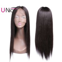 UNice Brazilian Straight Human Hair Lace Front Wigs With Bab...