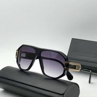 أساطير 163 طيار نظارات شمس الذهب الأسود / الرمادي تدرج عدسة gafas دي سول الرجال النظارات الشمسية النظارات الجديدة وث صندوق