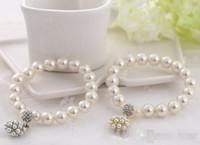 Braccialetto di lusso Braccialetto di fascino perla per perla per perla per donna per le donne signora ragazza Bellissimo braccialetto elastico Braccialetto Bella nozze gioielli