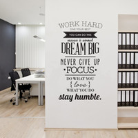 work hard quotes stay humble wall decal Lettering Saying Inspirational Wall Stickers for Home Walls Offices 100*56 cm
