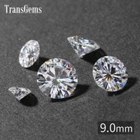 TransGems 9мм 3-каратный GH Цвет Сертифицированный рукотворный бриллиант из муассанита