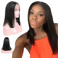 Indian Top Lace Frontal Wigs 130% Density Straight Virgin Ha...